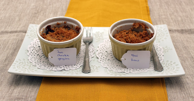 Dia 1 na cozinha com dois crumbles de Outono / Day 1 in the kitchen with two Autumn crumbles