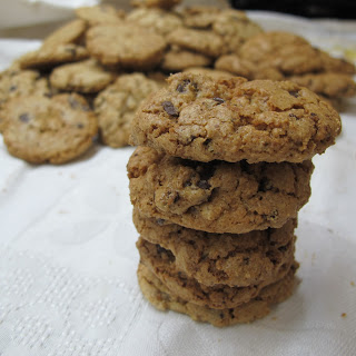 Cookies com pepitas de chocolate