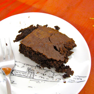 Brownie de chocolate e limão