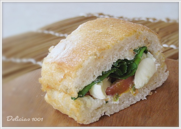Lanche light na ciabatta