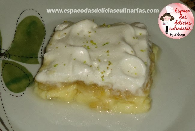 Doce de banana com merengue