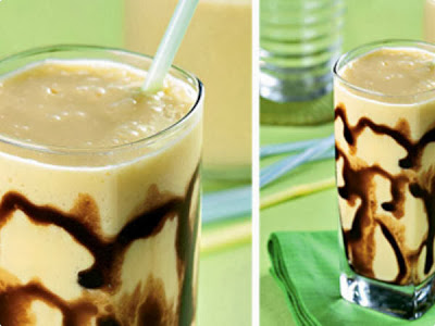 Milk Shake de Manga e Chocolate