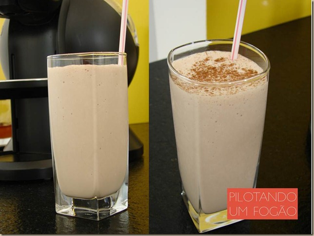 Milk shake com licor de chocolate