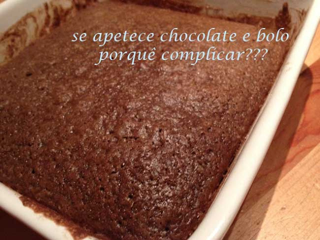 Mix in a Pan Chocolate Cake/ Bolo de Chocolate (Ultra rápido)