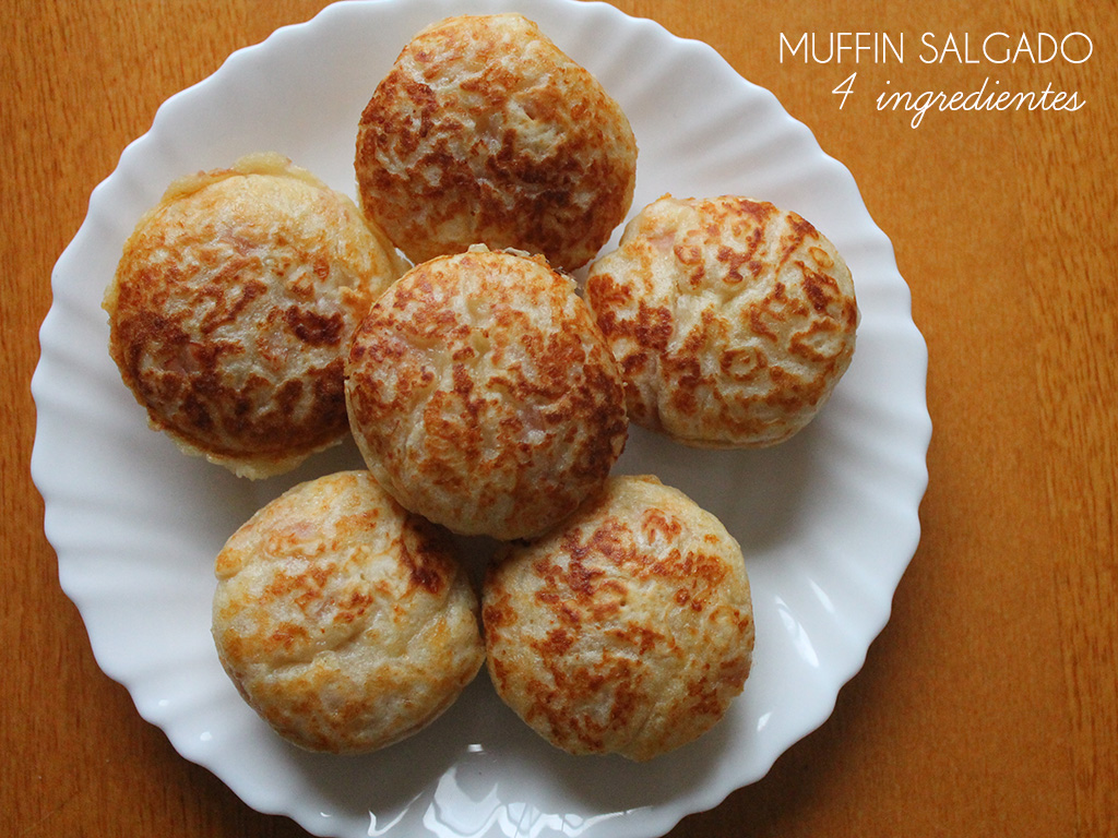Muffin Salgado – 4 Ingredientes