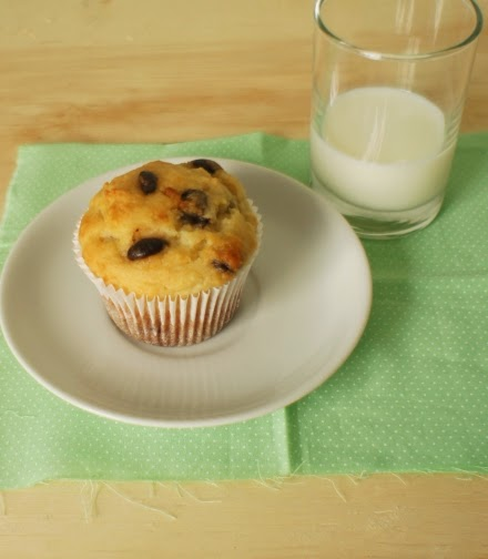 muffin com chocolate