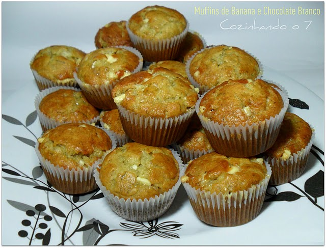 Muffins de Banana e Chocolate Branco