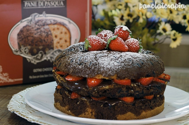 Naked Cake de Morango e Chocolate