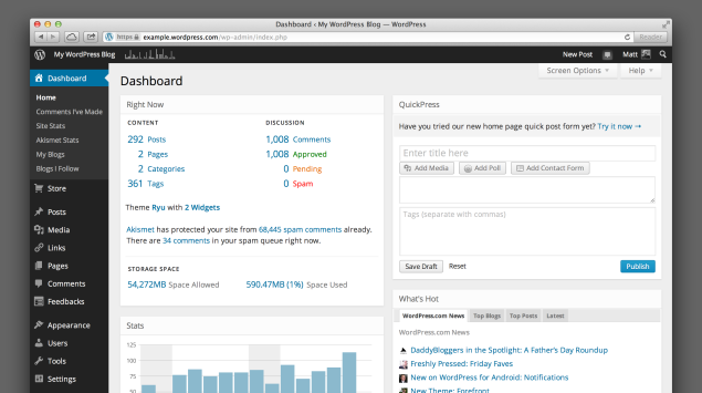 The WordPress.com Dashboard Gets a Beautiful Makeover