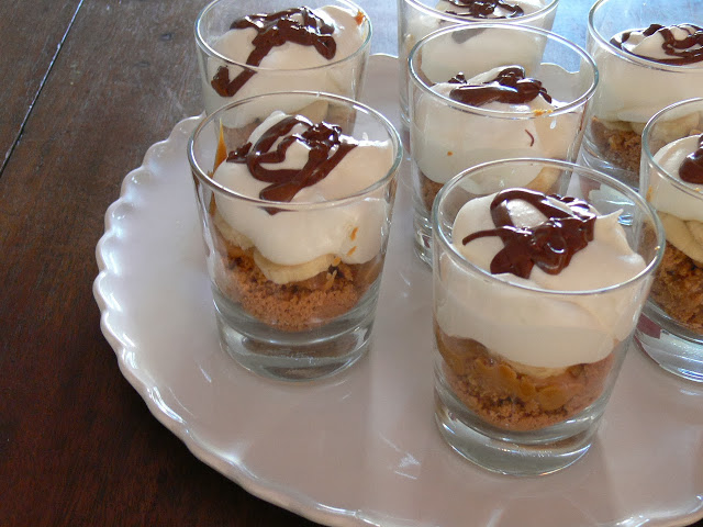 Banoffee Pie que se transformou em Banoffee Cups
