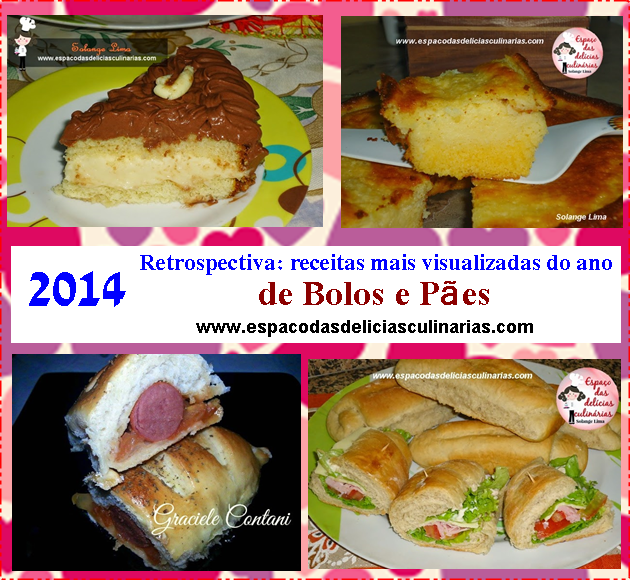 Retrospectiva 2014: receitas mais visualizadas do ano, de Bolos e Pães