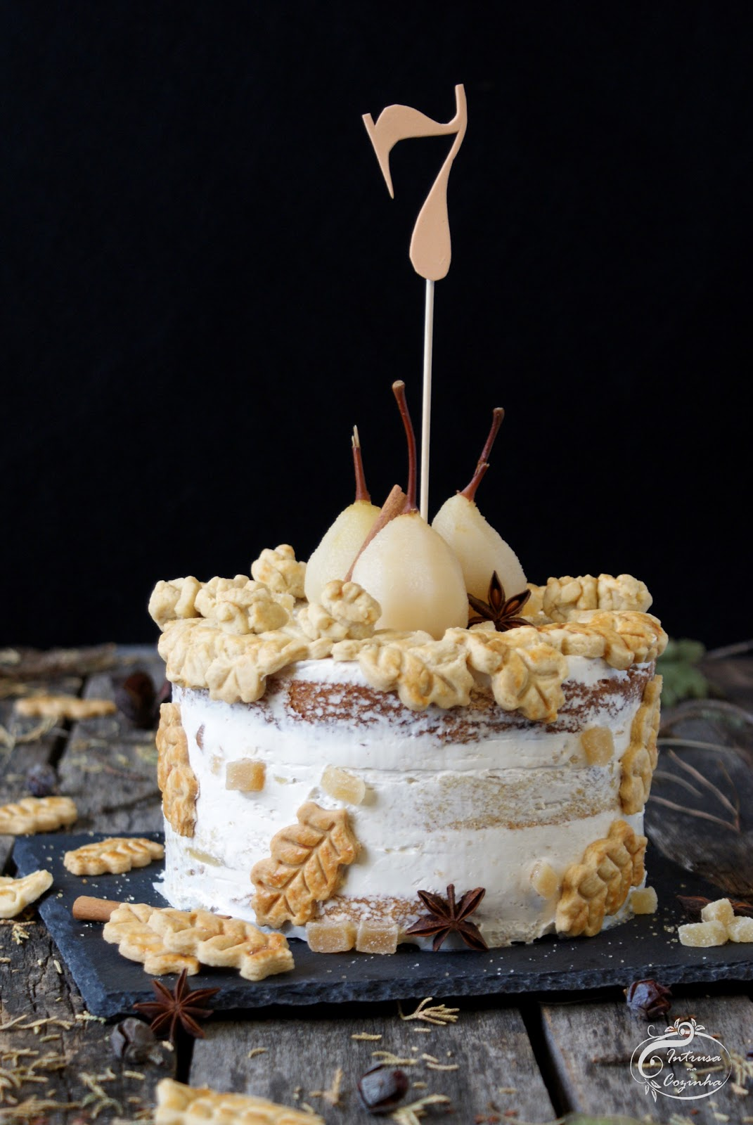 Pear & Ginger Semi Naked Cake