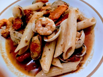 Penne com Frutos do Mar