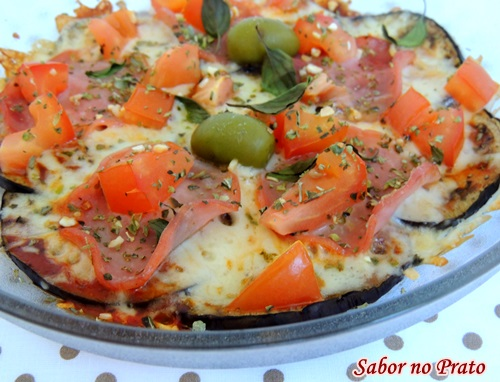 Pizza de Berinjela (berinjela na base da pizza)