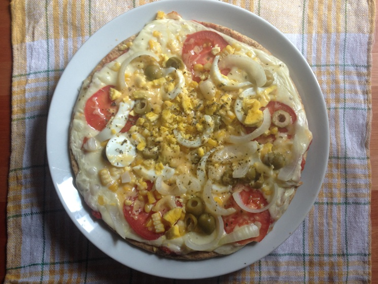 Pizza vegetariana light