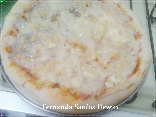 Eu testei receita do blog, Fernanda Santos Devesa: Pizza com massa caseira