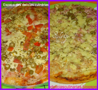 Pizzas: Mural com as fotos e link para a receita (do blog)