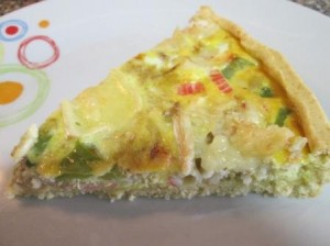Quiche do mar com queijo Brie