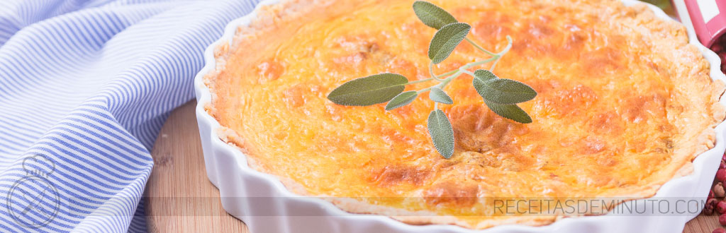 Quiche de Cheddar e Doritos (com Bacon)