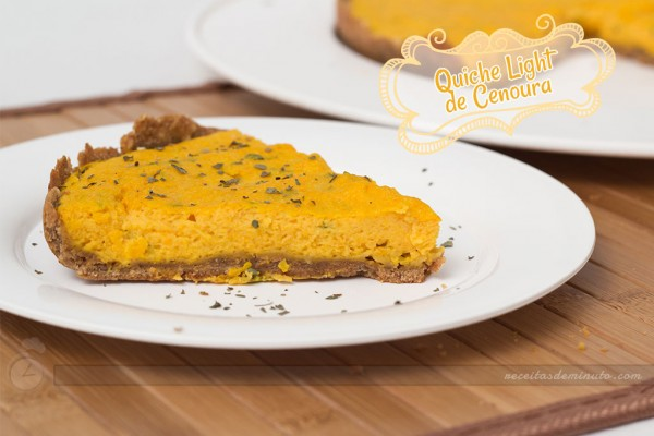 Quiche de Cenoura Light