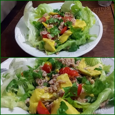 Salada de atum com abacate Low carb high fat