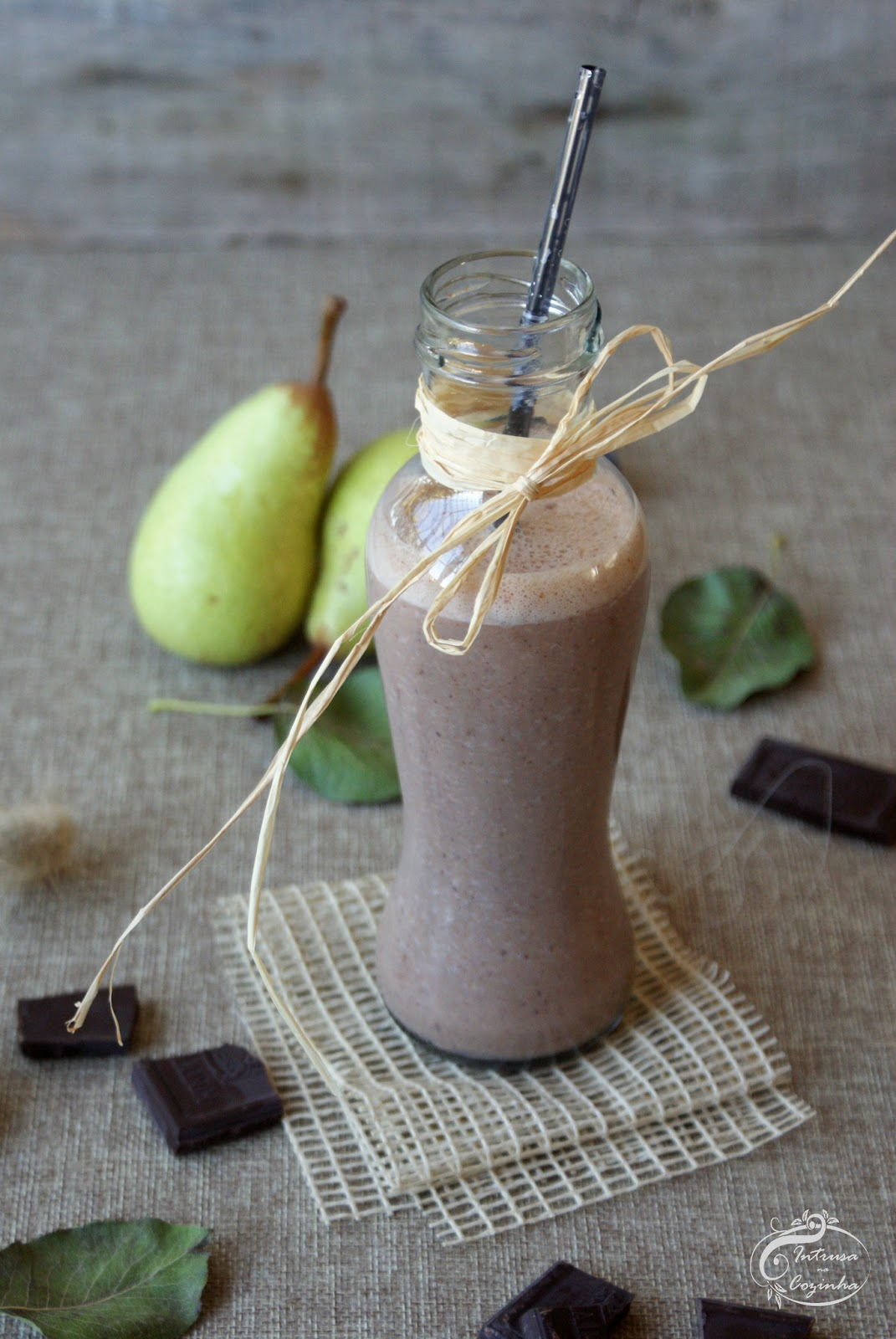 Smoothie de Pera & Chocolate {Pear & Chocolate Smoothie}