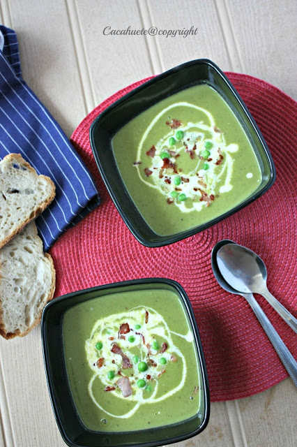Sopa de ervilhas, bacon e menta/Pea, bacon and mint soup