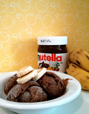 Sorvete de Banana com Nutella