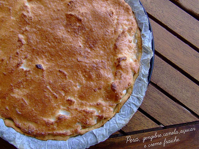 Post nº 100 - tarte de pêra com merengue