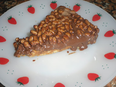Tarte de chocolate e arroz tufado