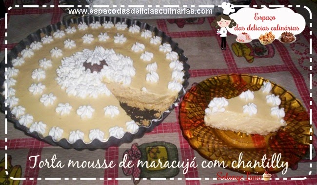 Torta mousse de maracujá e chantilly