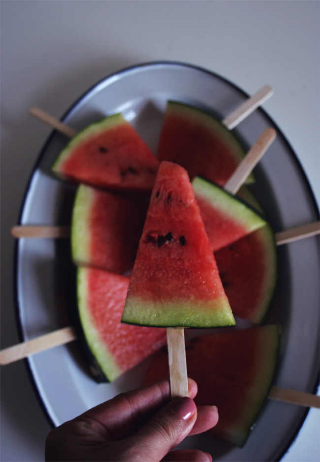 Pops de melancia/ Watermelon pops